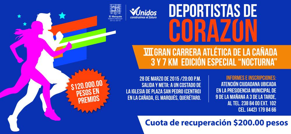"""VII GRAN CARRERA ATLETICA DE LA CAÑADA 3K Y 7K EDICION ESPECIAL """"NOCTURNA"""""""