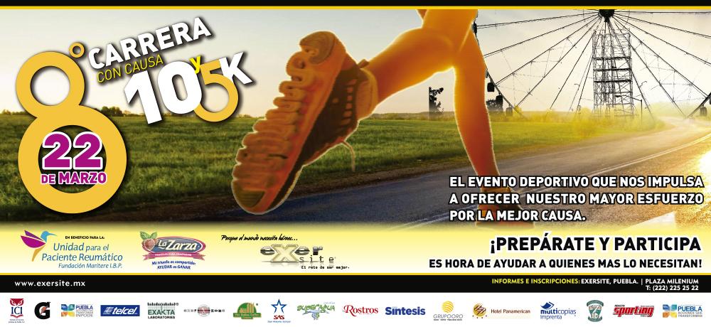 8ª. Carrera con Causa Exersite Puebla 5k y 10k
